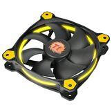 Thermaltake - Riing 12 LED - Ventilateur PC (12 cm - LED Jaune) Noir
