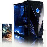 VIBOX Black-Ice LA8-15 PC Gamer Ordinateur avec War Thunder Jeu Bundle (3,4GHz AMD A8 Quad-Core Processeur, Radeon R7 Graphiques Chip, 4GB DDR4 RAM, 120GB SSD, 3TB HDD, sans Système d'Exploitation)
