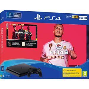 Sony PlayStation 4 Slim 500 GO + FIFA 20 + PS Plus 14 jours, Avec 1 Manette Sans Fil DUALSHOCK 4 V2 - Publicité