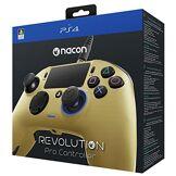 Nacon Revolution Pro Manette de Jeu Playstation 4 Or - Accessoires de Jeux vidéo (Manette de Jeu, Playstation 4, Analogique/Numérique, Maison, Sélectionner, Share, Bleu, avec Fil)