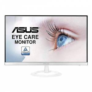 "Asus VZ249HE-W Ecran PC 23,8"" Blanc FHD Dalle IPS 16:9 1920x1080 250cd/m HDMI et VGA Profil ultra-fin de 7 mm Bords fins Flicker Free Filtres de lumire bleue - Publicité"