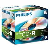 Philips CD-R audio Philips, 700 Mo, 80 mn, 10 pièces en jewelcase