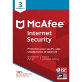 McAfee Internet Security 2019 3 Appareils Code d'activation - envoi par la poste