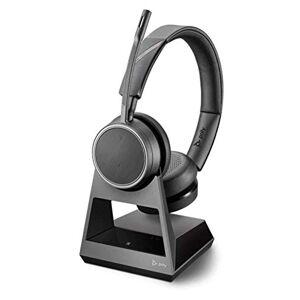 POLY Voyager 4220 Office Oreillette stéréo Bluetooth avec prise USB A sur la base, SoundGuard, bras de microphone, mode secret dynamique, Skype pour les affaires Noir - Publicité
