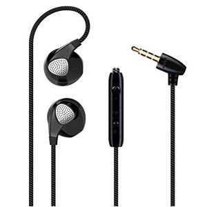 Shot Case Ecouteurs pour IPHONE 4/4S avec Micro Reglage Kit Main Libre Intra-AURICULAIRE Casque Universel Jack (Couleur Noir) - Publicité
