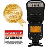 Rollei Pro Flash Unit 56F for Sony - Flash sans fil professionnel avec TTL, Manuel-, maître / esclave et mode stroboscopique - Guide Numéro 56 - Noir