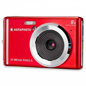 Agfaphoto AGFA Photo Realishot DC5200 Appareil Photo Numérique Compact (21 MP, Ecran LCD 2.4, Zoom Digital 8X, Batterie Lithium) Rouge - Publicité