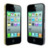 Ozaki iCoat Bling Bling IC856A Bumper Sticker de Protection pour iPhone 4S Doré / Argenté
