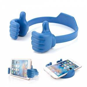 World Smartphones 3615102183734 Support Stand Téléphone en Silicone Pouce Bleu pour Sony Xperia Ray Bleu - Publicité