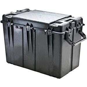 Peli 0500 large conteneur de transport en polypropylène, IP67 étanche à la poussière et résistant aux produits chimiques, capacité de 267L, fabriqué aux États-Unis, sans mousse, noir - Publicité