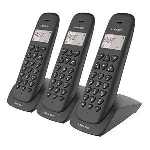 Logicom Telephone fixe sans fil Téléphone fixe sans fil avec Répondeur Trio Téléphones analogiques et dect  VEGA 355T Téléphone Fixe sans Fil Trio avec Répondeur Noir - Publicité