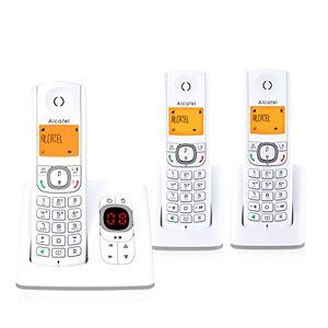 Alcatel F530 Voice Trio- Téléphone sans fil DECT aux coloris contemporains, Répondeur intégré, Mains libres, Ecran rétroéclairé, Sonneries VIP, 10 mélodies d'appel-Blanc/Gris - Publicité