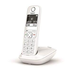 Siemens AS690 Téléphone Portable sans Fil avec Mains Libres de Haute qualité, Clavier éclairé et Grand écran, Noir Clair, liste des appels Faits, reus et périls, Blanc [Version Italienne] - Publicité