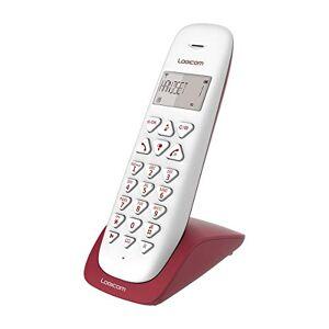Logicom Telephone fixe sans fil Téléphone fixe sans fil sans Répondeur Solo Téléphones analogiques et dect  VEGA 150 Téléphone Fixe sans Fil Framboise - Publicité