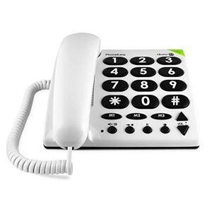 Doro PhoneEasy 311c Téléphone Fixe Filaire pour Seniors avec Grandes Touches, Numérotation Abrégée et Compatible avec Appareils Auditifs [Version Franaise] - Publicité