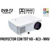 Luximagen Projecteur avec Tuner TNT luximagen SV100Blanc avec Tuner TNT HD, USB, HDMI, VGA, AC3