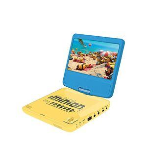 LEXIBOOK Lecteur DVD portable Moi, Moche et Méchant, avec port USB, Bleu/Jaune, DVDP6DES - Publicité