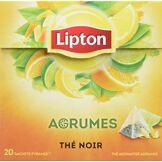 Lipton Thé Agrumes 20 Sachets - Lot de 3