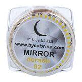 Sabrina Art Deco Mirror Powder Doré, 837 1 pièce 100 g