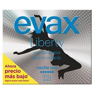 EVAX Liberty nuit Serviettes hygiéniques Normal avec ailes–Lot de 9 - Publicité