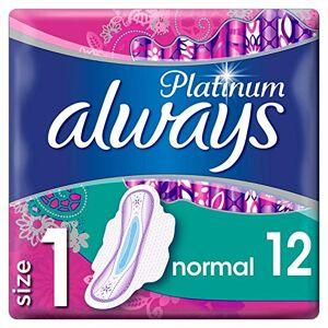 Always Platinum Normal Serviettes Hygiéniques avec Ailettes Taille 1 12 Unité - Publicité