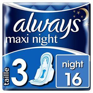 Always Maxi Night T3 Serviettes Hygiéniques 16 Pochettes Individuelles - Publicité