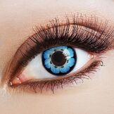 Aricona Couleur des lentilles de contact Big Blossom in grün de aricona - années couvrant la lentille à terme pour les yeux sombres et claires- sans correction- les lentilles colorées pour le carnaval- des soirées à thème et des costumes d'Halloween