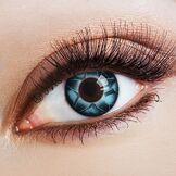 Aricona Couleur des lentilles de contact Starry Sky in blau de aricona - années couvrant la lentille à terme pour les yeux sombres et claires- sans correction- les lentilles colorées pour le carnaval- des soirées à thème et des costumes d'Halloween