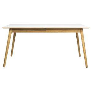 TENZO Dot Designer Table  Manger rectangulaire avec allonge, MDF Massif, HPL Blanc/Chne, 160 x 90 x 75 cm - Publicité