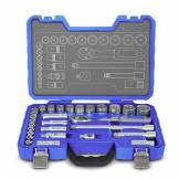 Michelin MXMI-602010050 Outillage Coffret Douilles, cliquet et Embouts, Bleu