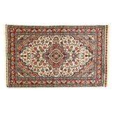 Eden Carpets kashmirian Fonds Soie Tapis noué à la Main, Coton, Multicolore, 74x 121cm
