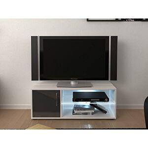 Meuble TV, Gris, L 100 x l 36 x H 38 cm - Publicité