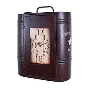 Haku Mbel Haku placard en métal marron, style vintage, 44x23x52 - Publicité