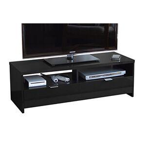 Berlioz Creations Banco / Edison Meuble TV, Noir brillant, 110 x 41 x 38 cm, Fabrication 100% Franaise - Publicité