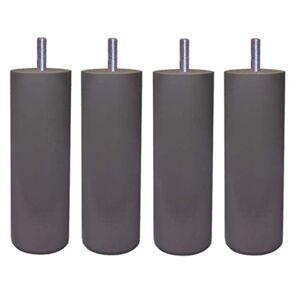 Margot 3700527831480 Caméléon Cylindre Lot de 4 Pieds de lit Bois Gris Taupe Hauteur 15 cm - Publicité