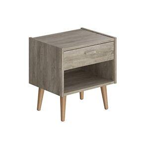 Amazon Basics Movian Lot Table de chevet, 48x38x50cm, Marron - Publicité