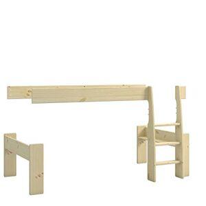 Steens Furniture for Kids Kit d'extension du lit Mezzanine mi-Hauteur, Bois, Jaune, 114 x 206 x 113 cm - Publicité