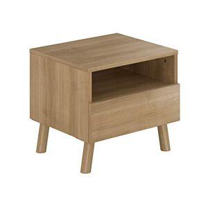 AmazonBasics Movian Gimone Table de chevet, 45x40x40cm, Beige - Publicité