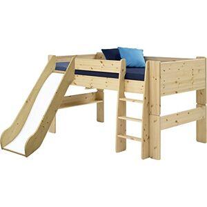 Steens Furniture for Kids Lit Mezzanine mi-Hauteur avec Toboggan, Bois, Jaune, 254 x 206 x 113 cm - Publicité