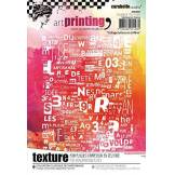 Carabelle Studio Tampon en Caoutchouc avec Texture en Forme Rectangulaire de Art Printing, Collage Lettres et Chiffr, pour Plaques en Gel Monoprint