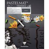 Clairefontaine 96004C - Un bloc encollé Papier Pastelmat 12 feuilles 24x30 cm 360g, Anthracite