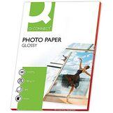 Q-Connect 27386 Papier Photo A4 180 g/m2 glacé ultra-brillant compatible toutes imprimantes jet encre Paquet de 50 feuilles Blanc