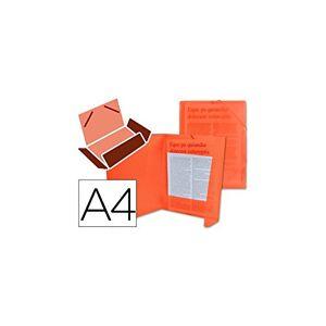 Liderpapel 919993 Chemise Polypropylne Dos Flexible Rabats A4 210 x 297 mm 400 Microns 100 Feuilles lastiques Translucide Rouge - Publicité