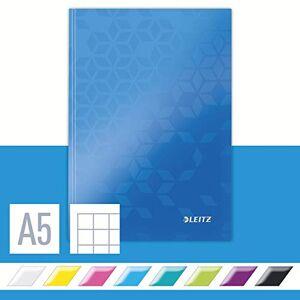 Leitz Wow Cahier broché 80 pages Format A5 petits carreaux Bleu