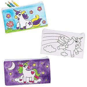 Baker Ross AT722 Trousses  motifs licornes  personnaliser Loisirs créatifs  thme pour enfants (Paquet de 4) - Publicité