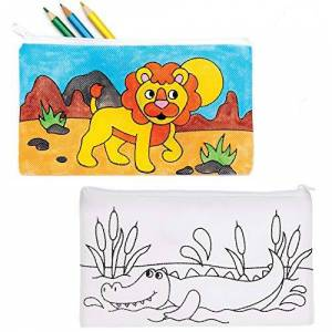 Baker Ross Trousses  motifs danimaux de la jungle  personnaliser (Paquet de 4) Loisirs créatifs  thme pour enfants AT733 - Publicité