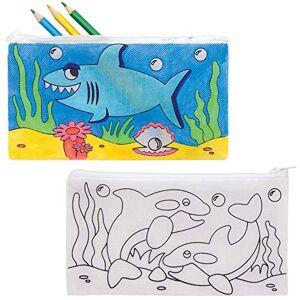 Baker Ross AT941 Trousses  motifs Vie Marine  personnaliser- Loisirs créatifs  thme pour enfants (Paquet de 4) - Publicité