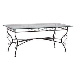 Weber Set DE Table Ibiza RECTANGULAIRE 175 x 75 CM Noir, Acier - Publicité