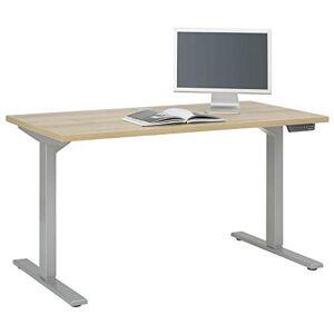 Maja Bureau pour ordinateur, métal gris platine-chne Riviera, 1350 x 680 x 1200 mm - Publicité