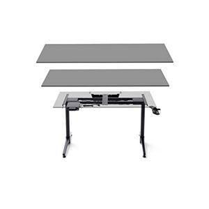 Robas Lund Bureau structure réglable en hauteur électriquement DX Racer 7 Table Gamer, Noir, LxHxP 140x73-123x40 cm - Publicité